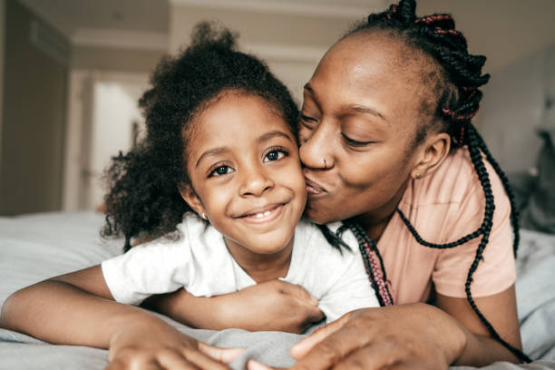 Happy parenting stock photo