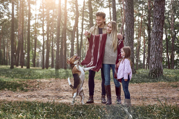Happy parents have fun with their daughter and jumping dog in forest picture id1066309982?b=1&k=6&m=1066309982&s=612x612&w=0&h=cyrygzx7xkad kte6tew9n1 1nxfrctjxk vxft901u=