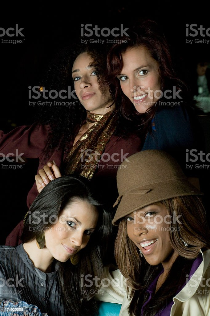 happy party girl friends royalty-free stock photo