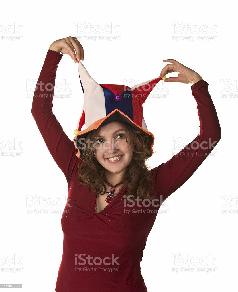Happy Party Girl royalty-free stock photo