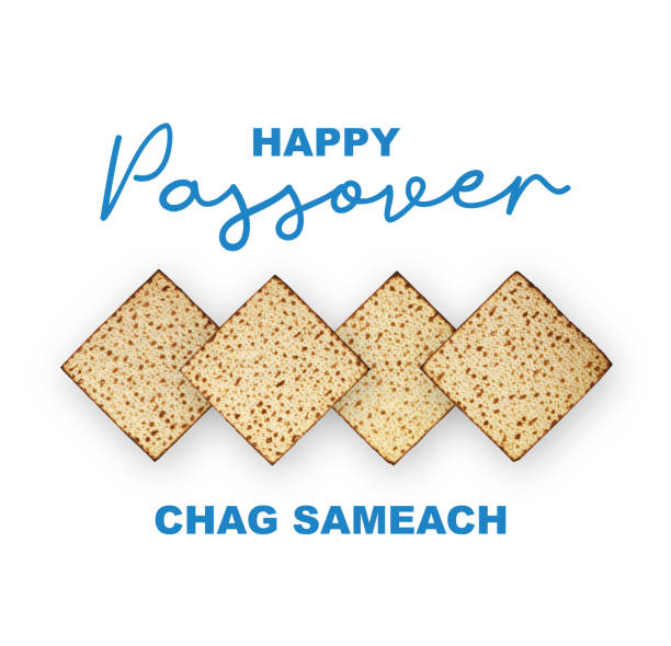 Happy Passover Jewish Holiday concept, studio image. Top view matzah isolated on white background, happy passover calligraphic text. Top view matzah isolated on white background, happy passover calligraphic text. Happy Passover Jewish Holiday concept, studio image. passover stock pictures, royalty-free photos & images