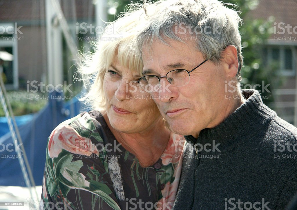 Happy Pensioners royalty-free stock photo