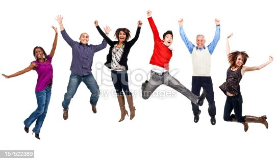 istock Happy People Jumping (Isolated; XXXL) 157522389
