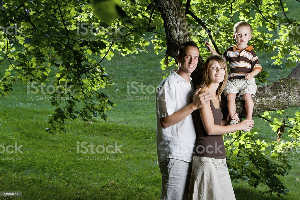 Happy perfect young family royalty-free stock photo