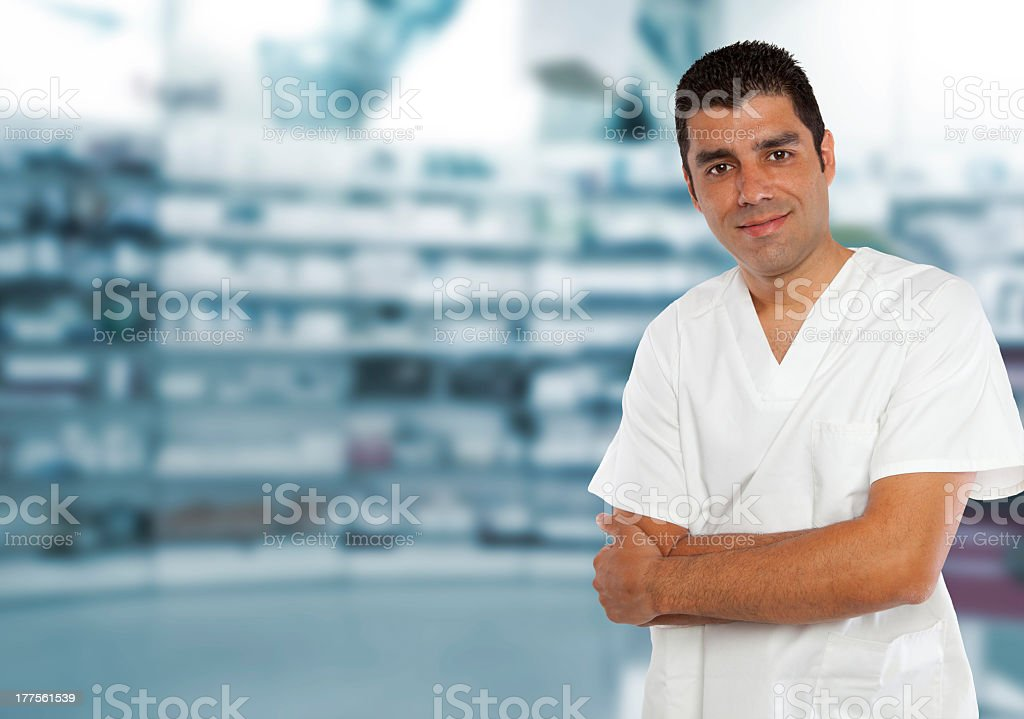 Happy Pharmacist royalty-free stock photo