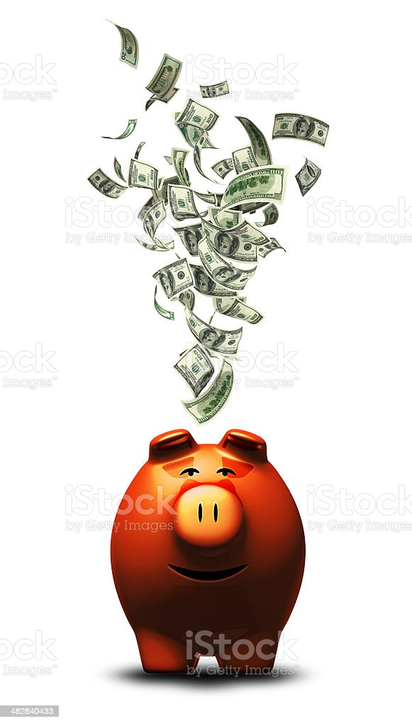Happy Piggy Bank royalty-free stock photo