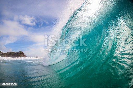 Beautiful aqua wave at Coolum beach