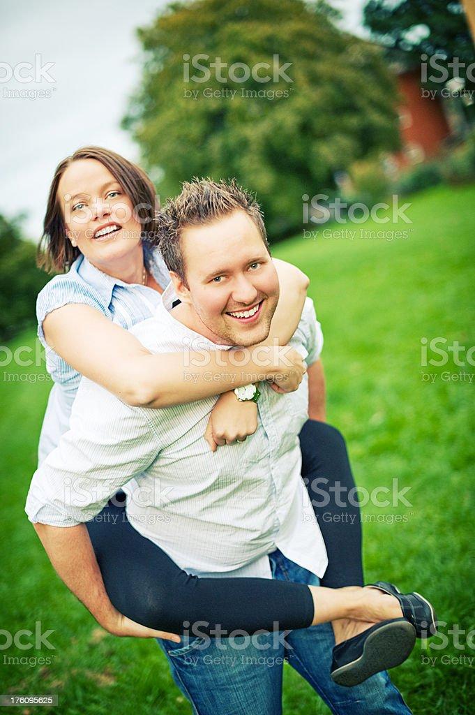 Happy playful couple royalty-free stock photo