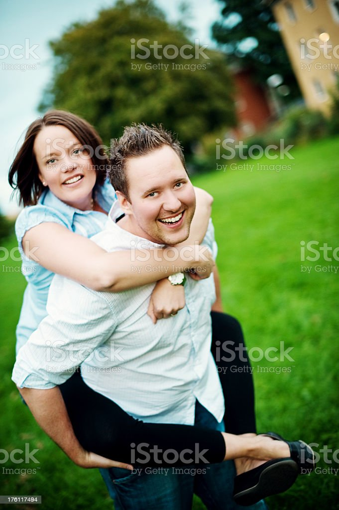 happy playful couple royalty-free stock photo