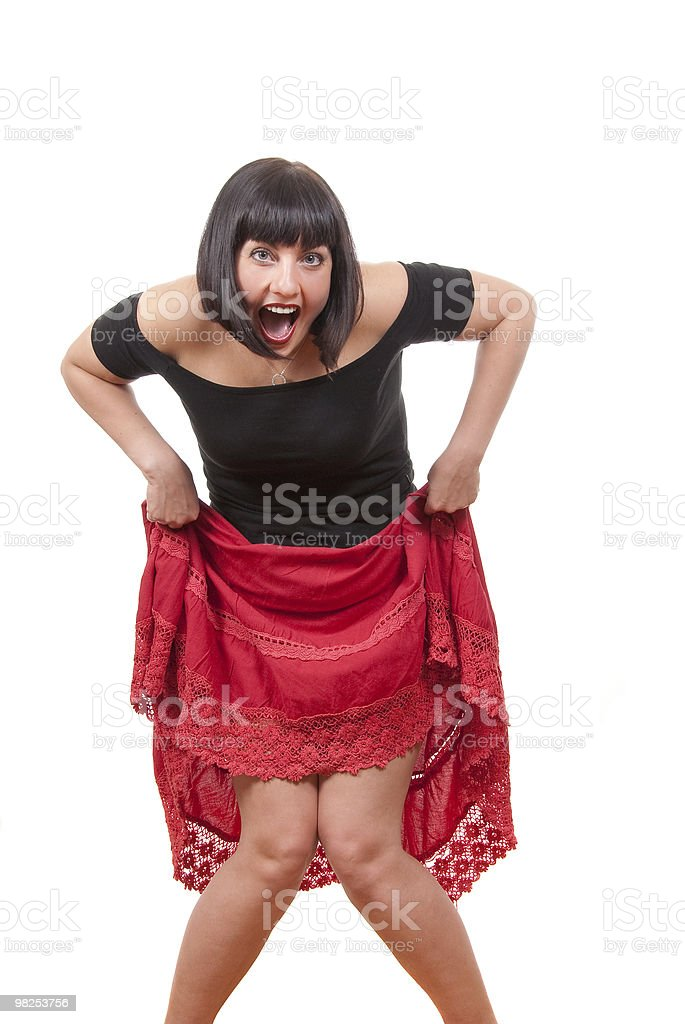 Happy playful  mature woman royalty-free stock photo