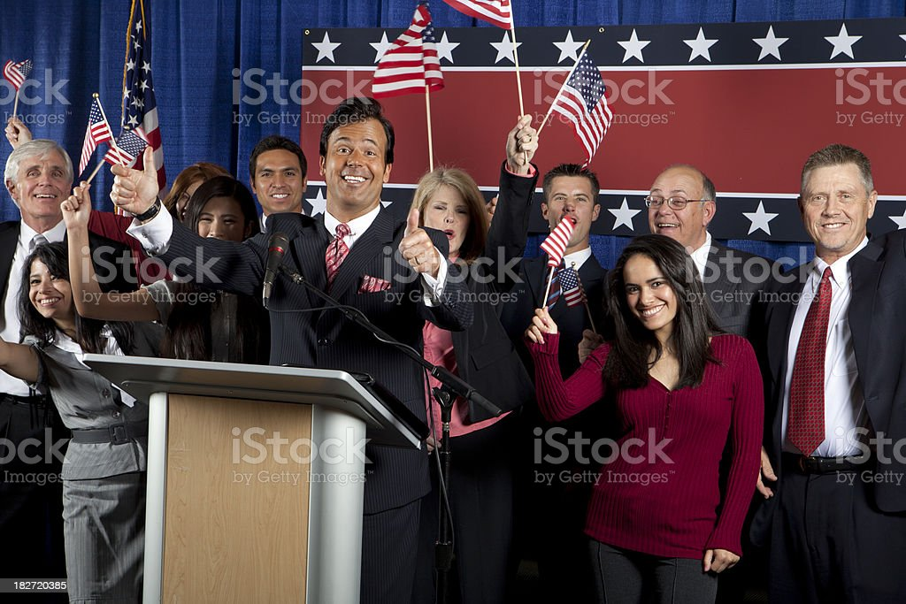 Happy Political Candidate royalty-free stock photo