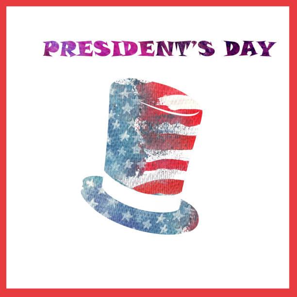feliz dia do presidente. fundo de bandeira eua aquarela. - presidents day - fotografias e filmes do acervo
