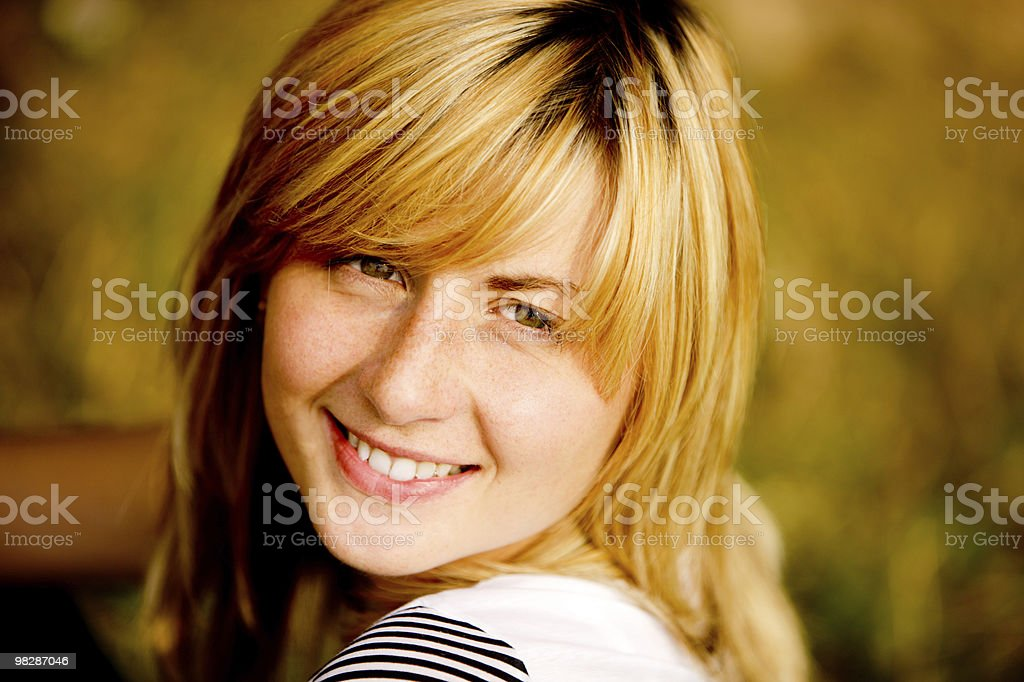 Happy Pretty Young Woman royalty-free stock photo