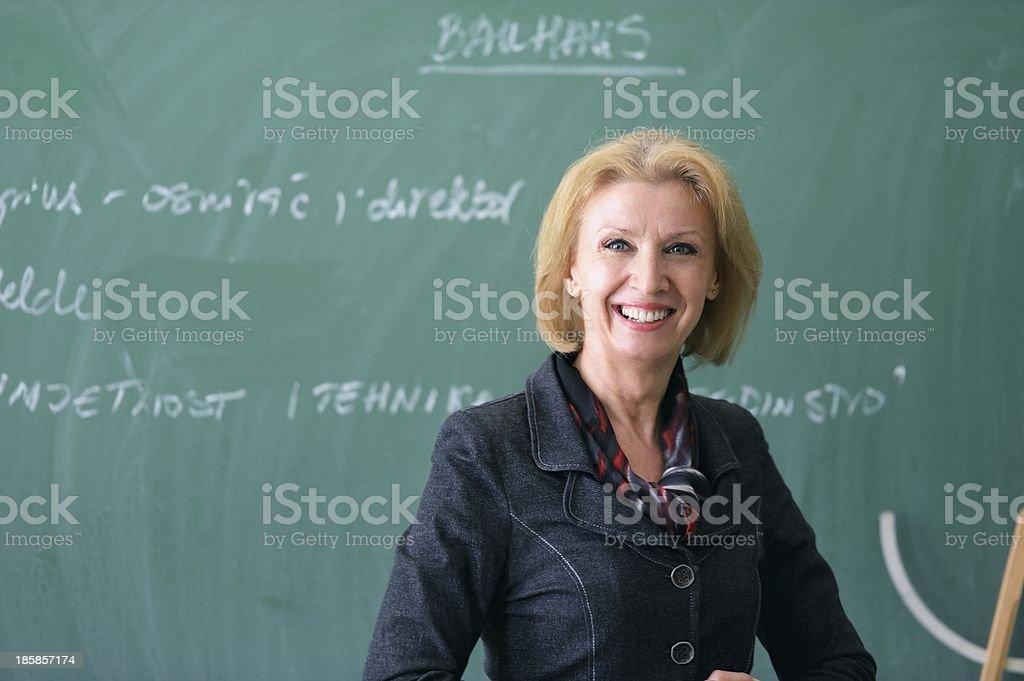 Happy professor stock photo