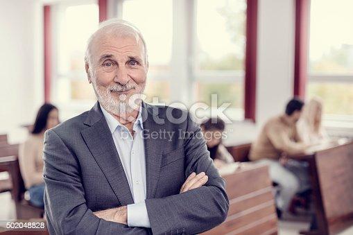 istock Happy professor 502048828