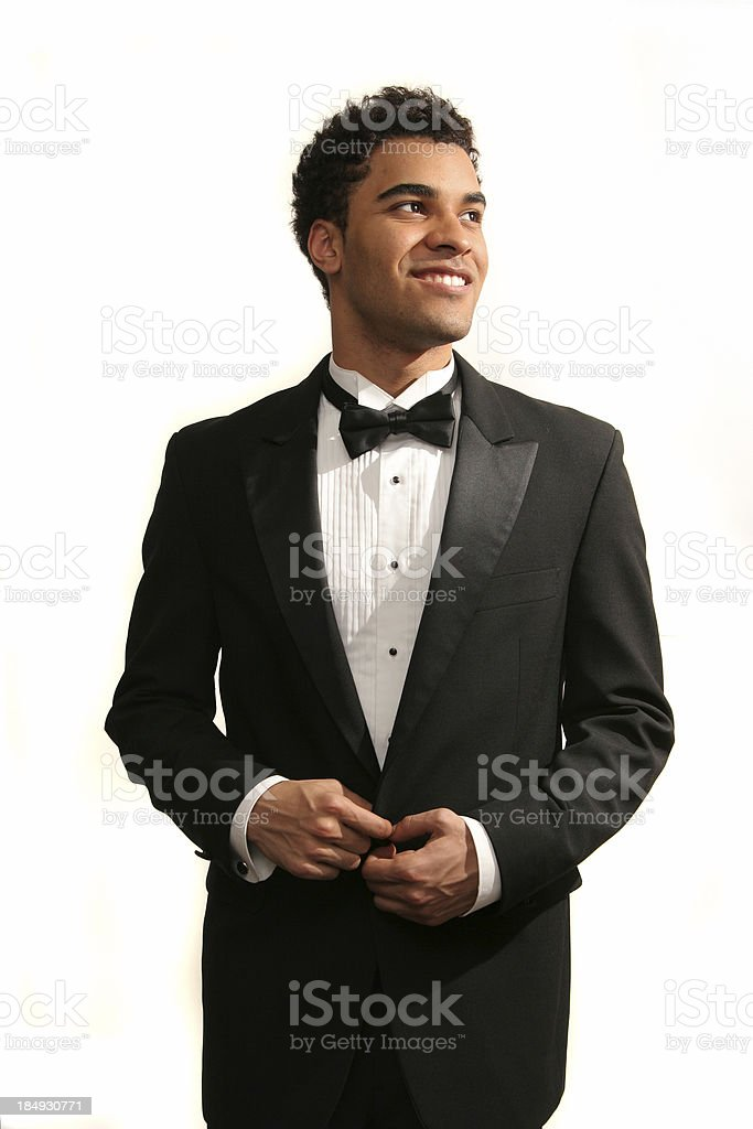 Happy prom date stock photo