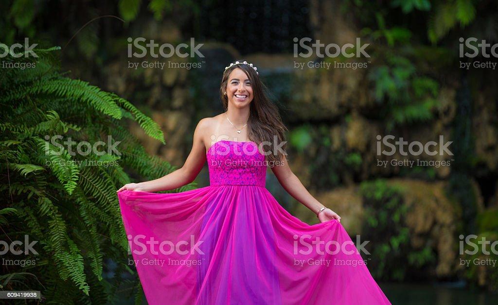 Happy Quinceanera stock photo