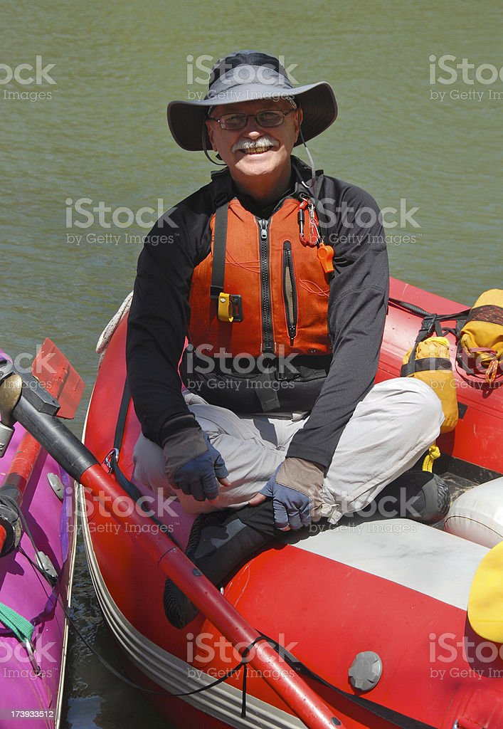 Happy Raft Pilot royalty-free stock photo