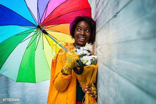 istock Happy rainy day in the city 471920455