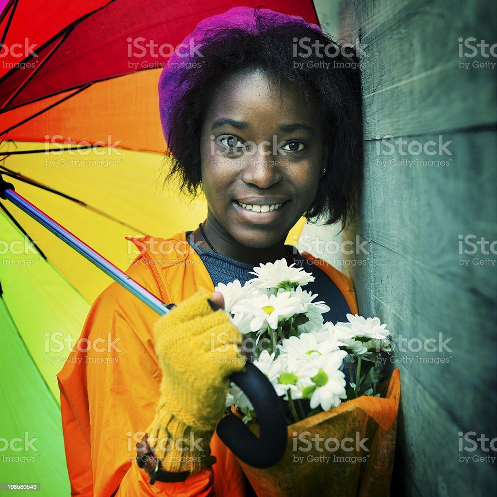 Happy rainy day royalty-free stock photo