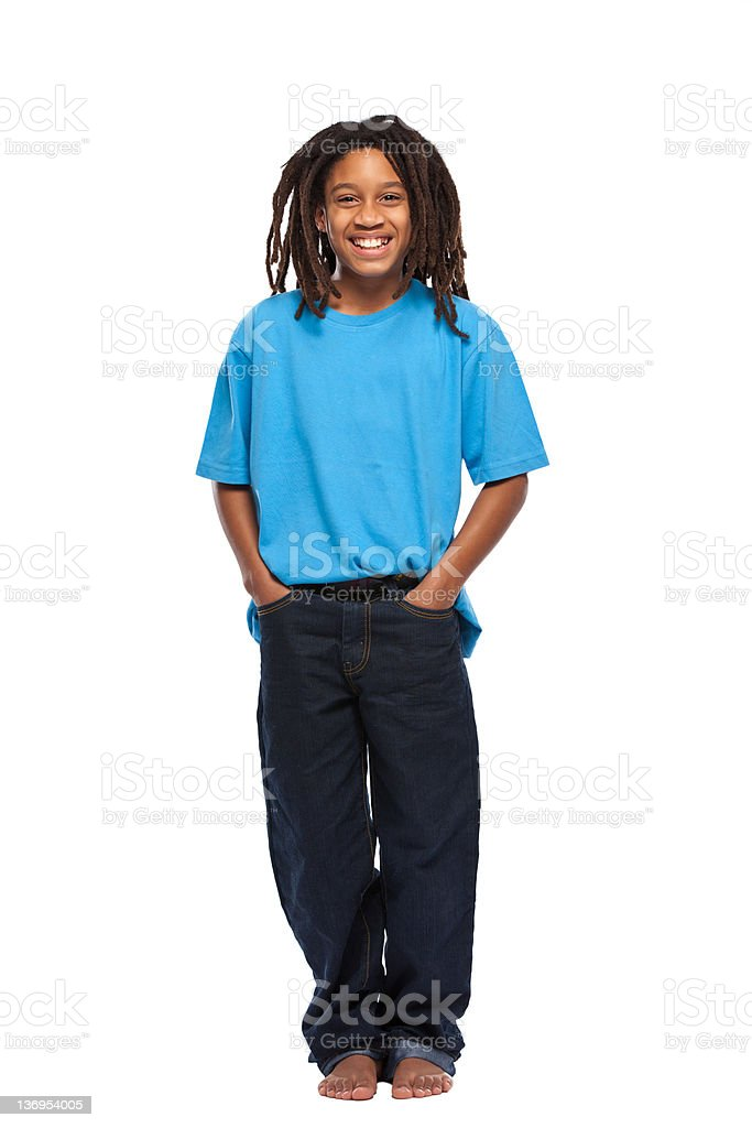 happy rasta boy in studio royalty-free stock photo