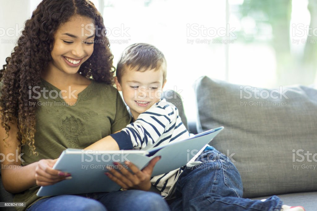 Happy Readers stock photo