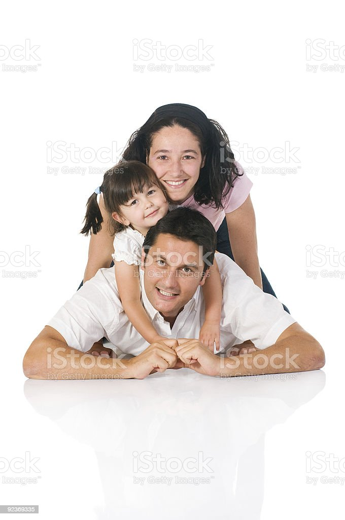Happy real family royalty-free stock photo