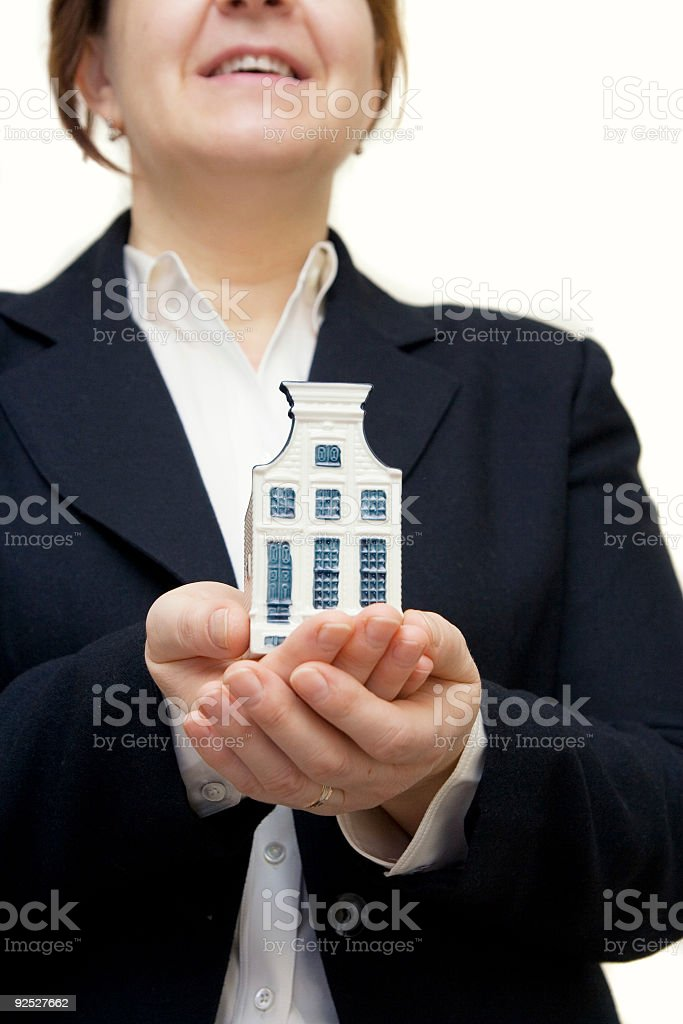 Happy realtor royalty-free stock photo
