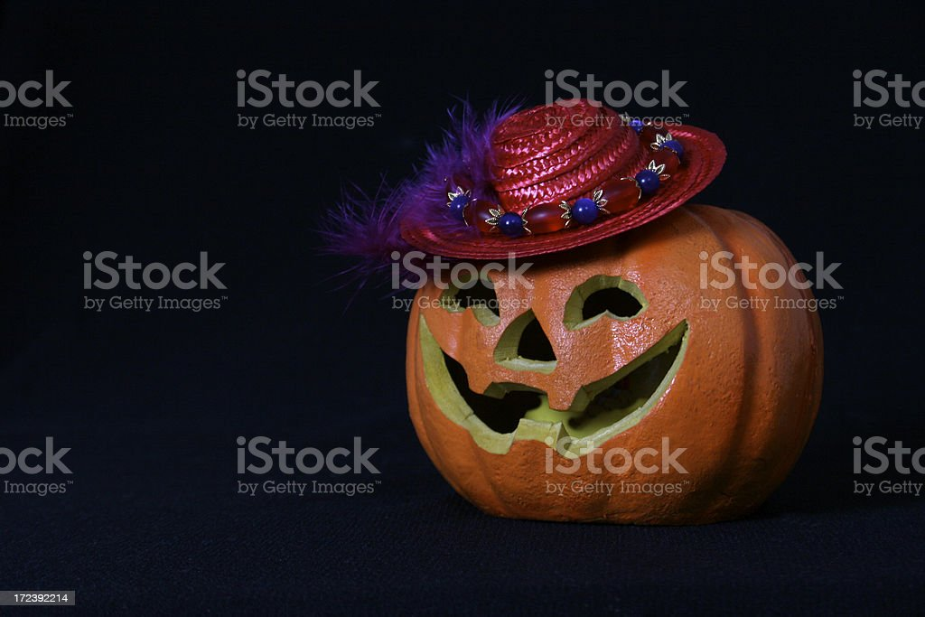Happy Red Hat Halloween royalty-free stock photo