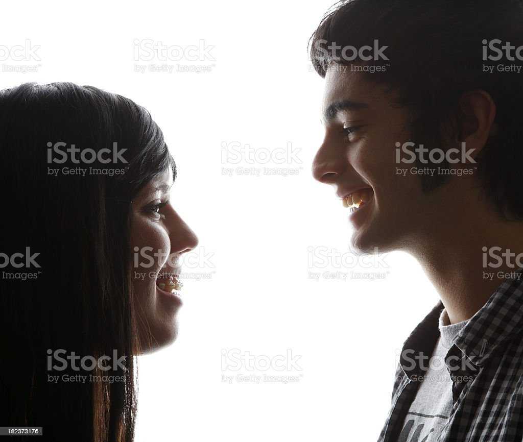 Happy relationship of a young couple royalty-free stock photo