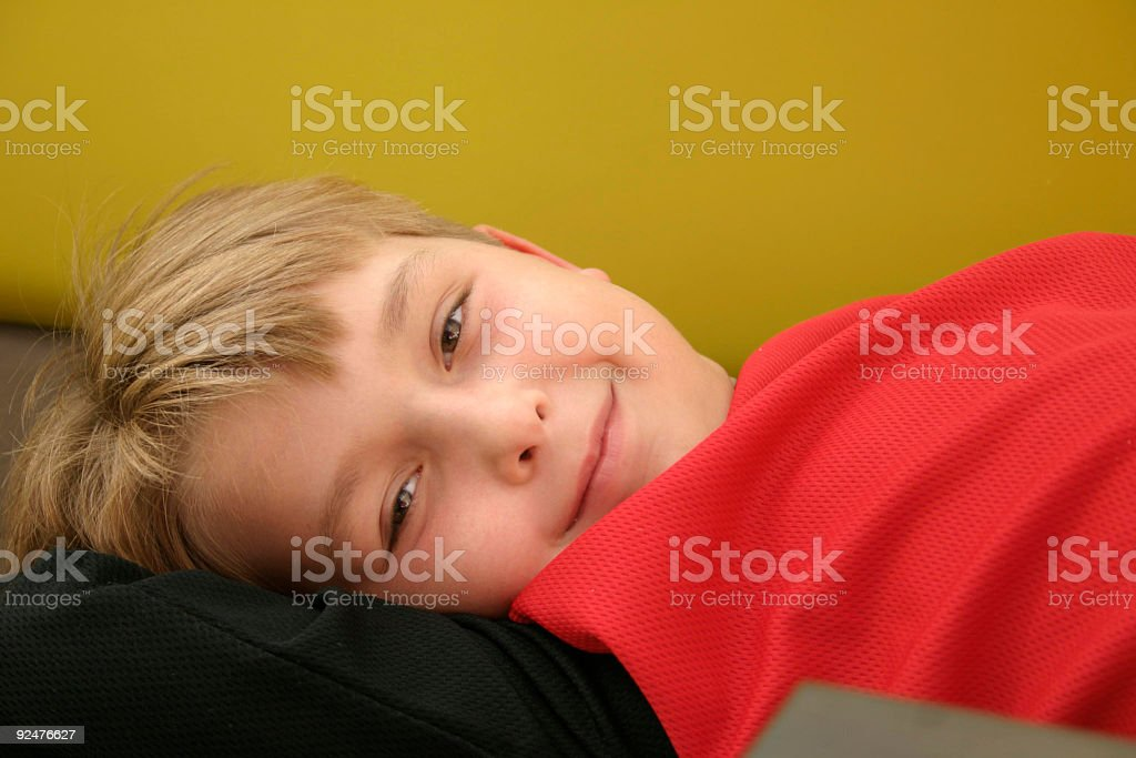 Happy relaxed child royalty-free stock photo