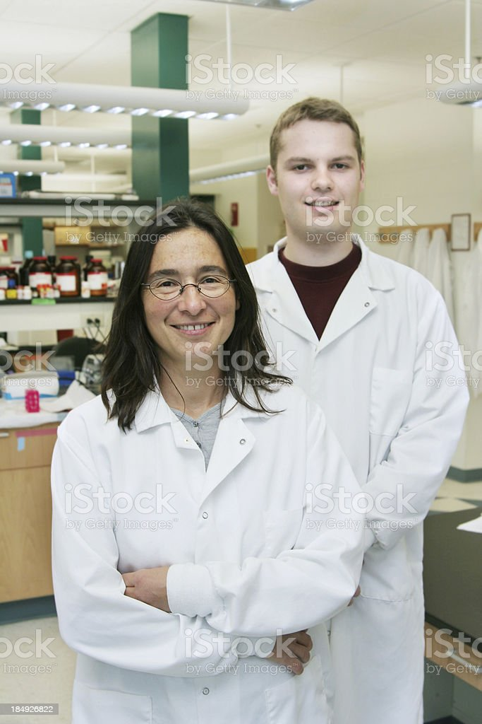 Happy researchers royalty-free stock photo