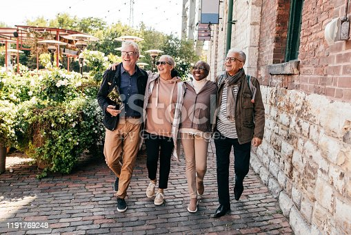 Seniors group travelling together