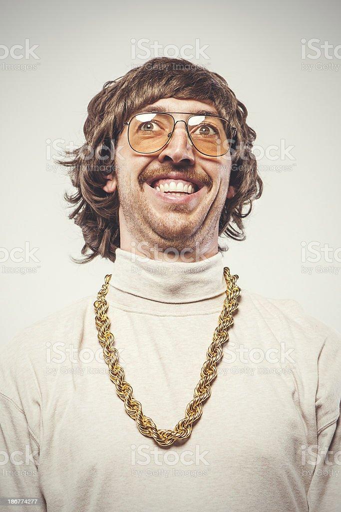 Happy Retro Seventies Man stock photo