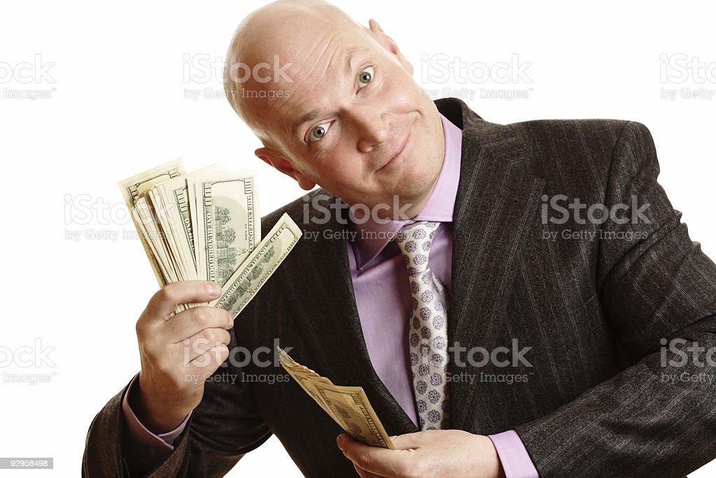 Happy Rich Businessman royalty-free stock photo