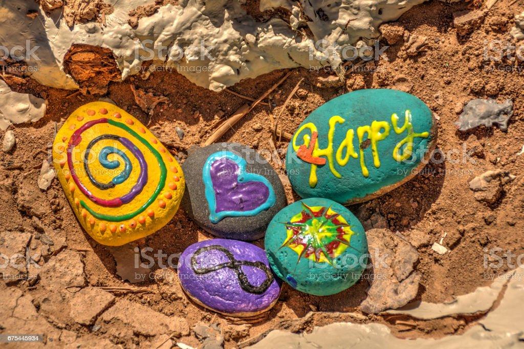Happy Rocks royalty-free stock photo