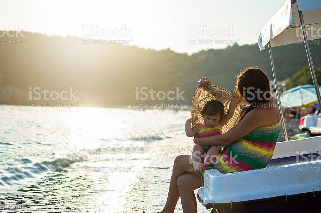 Happy sailors royaltyfri bildbanksbilder