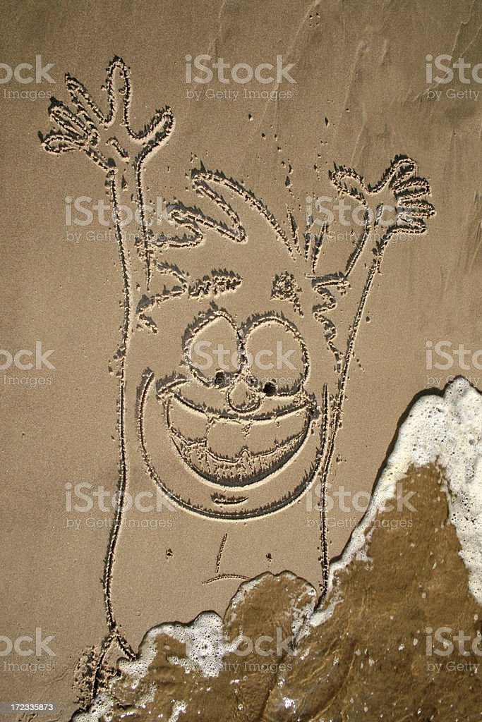 Happy Sand Man stock photo
