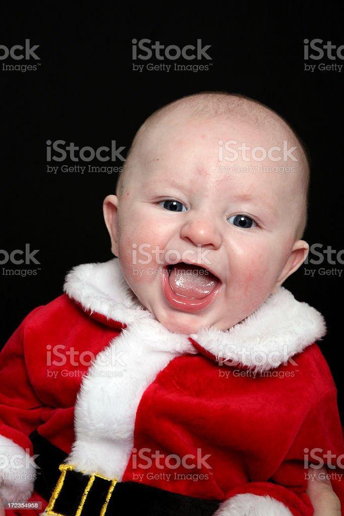 Happy Santa Baby royalty-free stock photo