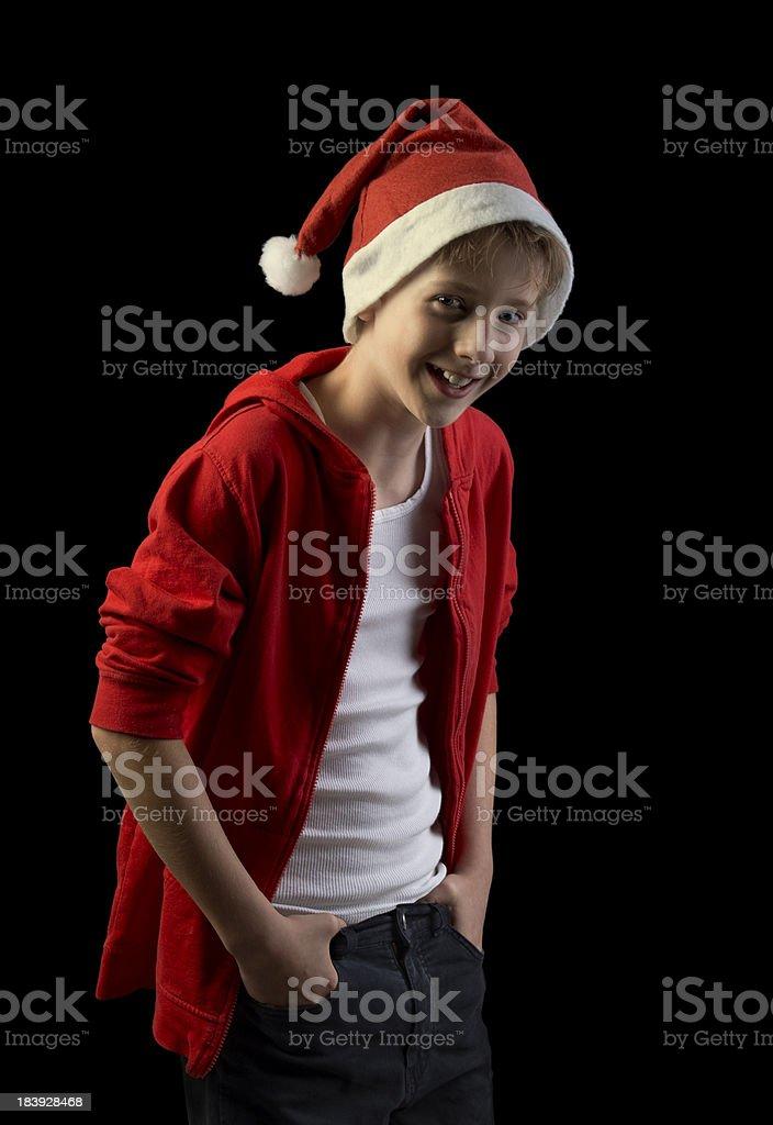 happy santa boy royalty-free stock photo