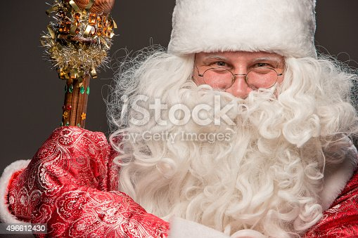 621898406 istock photo happy Santa Claus looking at camera 496612430