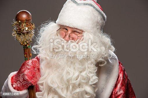 621898406 istock photo happy Santa Claus looking at camera 496612456