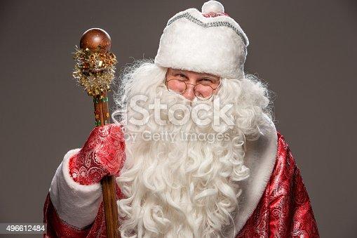 621898406 istock photo happy Santa Claus looking at camera 496612484