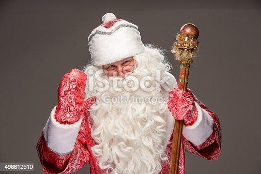 621898406 istock photo happy Santa Claus looking at camera 496612510
