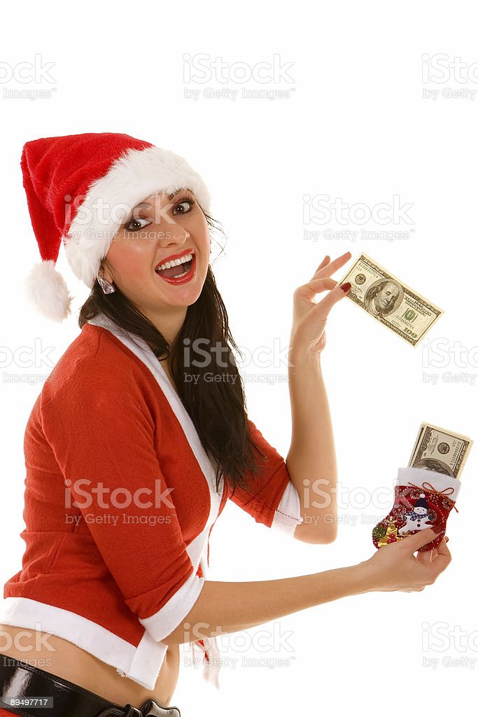 santa donna felice foto stock royalty-free
