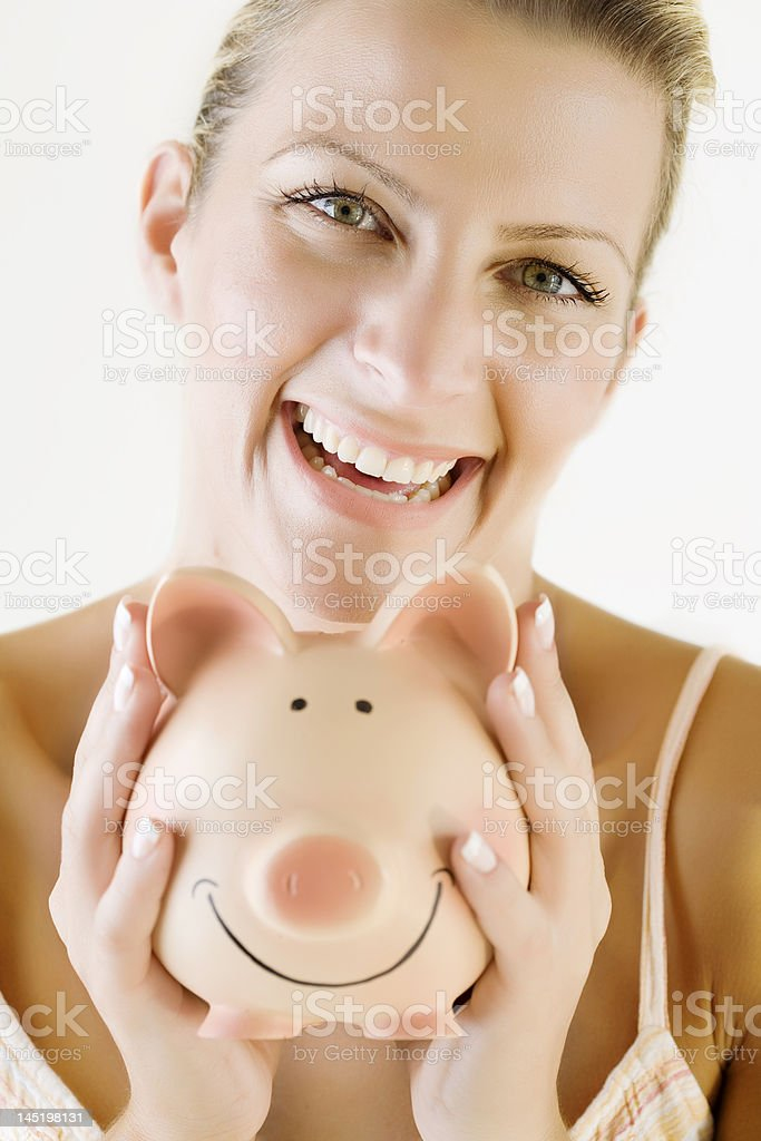 happy saver royalty-free stock photo