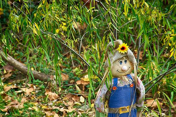 Happy Scarecrow stock photo