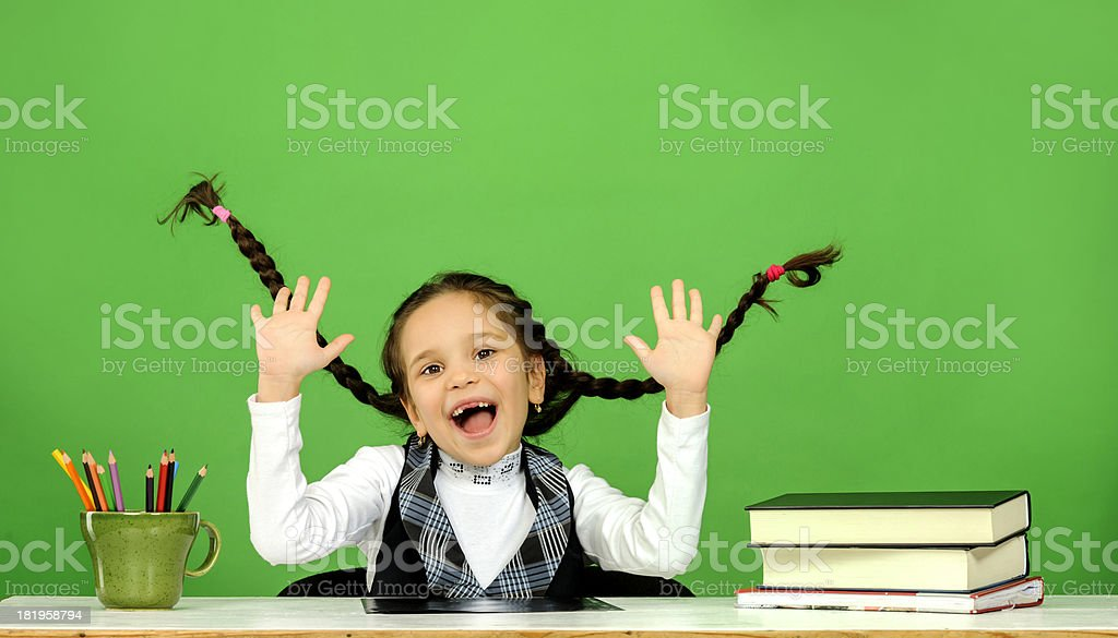 happy school girl royalty-free stock photo