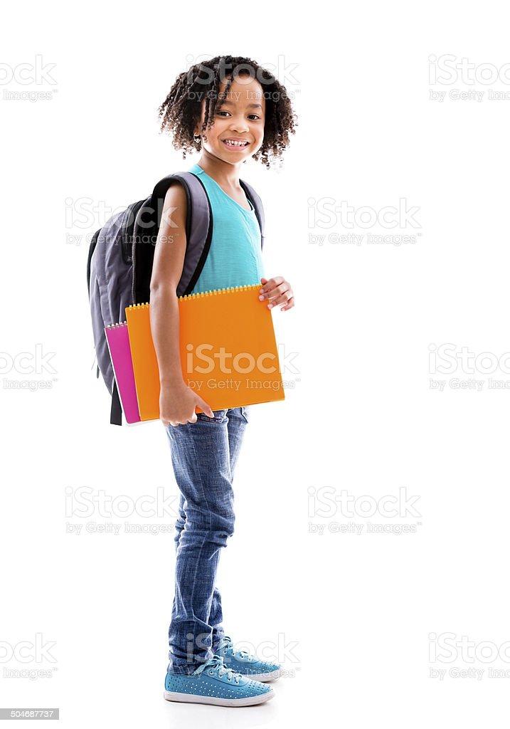 Garota feliz de Escola - foto de acervo