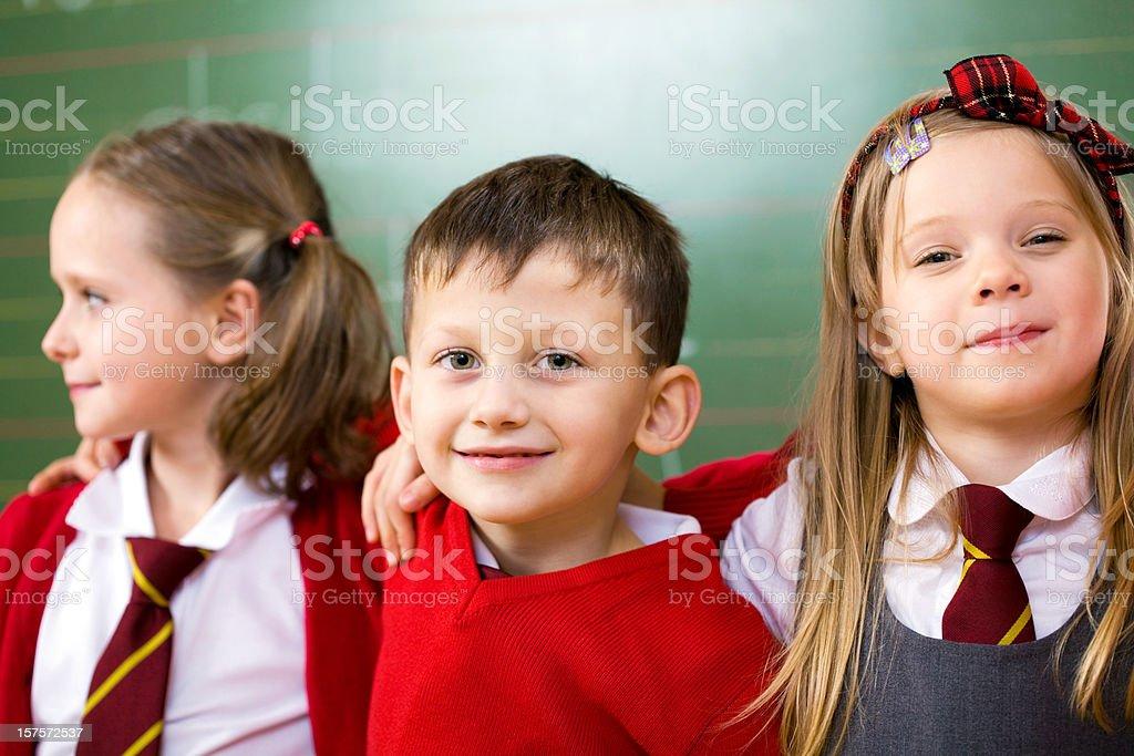 Happy School Kids Posing Together, Portrait royalty-free stock photo